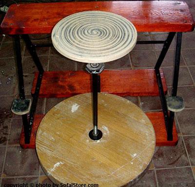 قیمت چرخ سفالگری چوبی